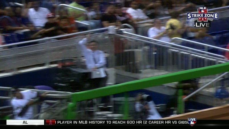 Illustration for article titled Marlins Reporter Saved By Reflexes, Well-Placed Clipboard