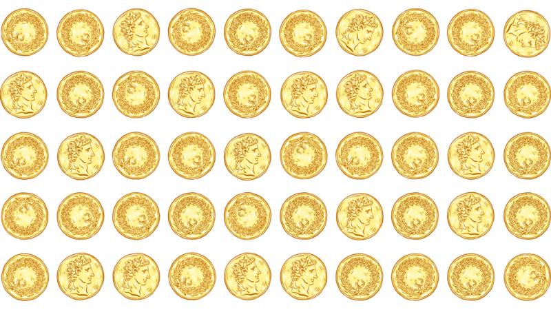 Illustration for article titled En este acertijo solo tienes que hacer dos grupos de monedas... con los ojos vendados