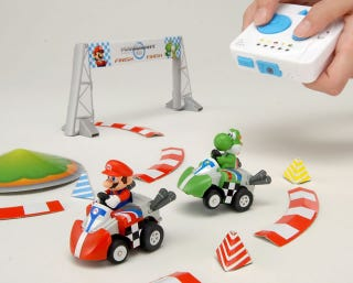 Illustration for article titled Remote Control Mario Kart Has Shells, Bananas