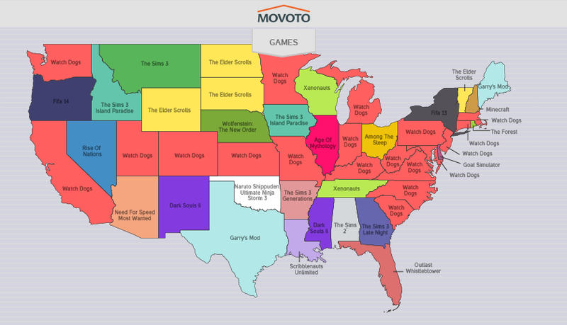 Illustration for article titled The Most Relatively Pirated Games, By State [Update]