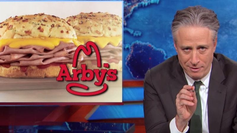 Illustration for article titled Arby's dedicates a sandwich to Jon Stewart