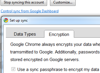Illustration for article titled Add an Extra Layer of Security to Chrome Syncing with a Passphrase