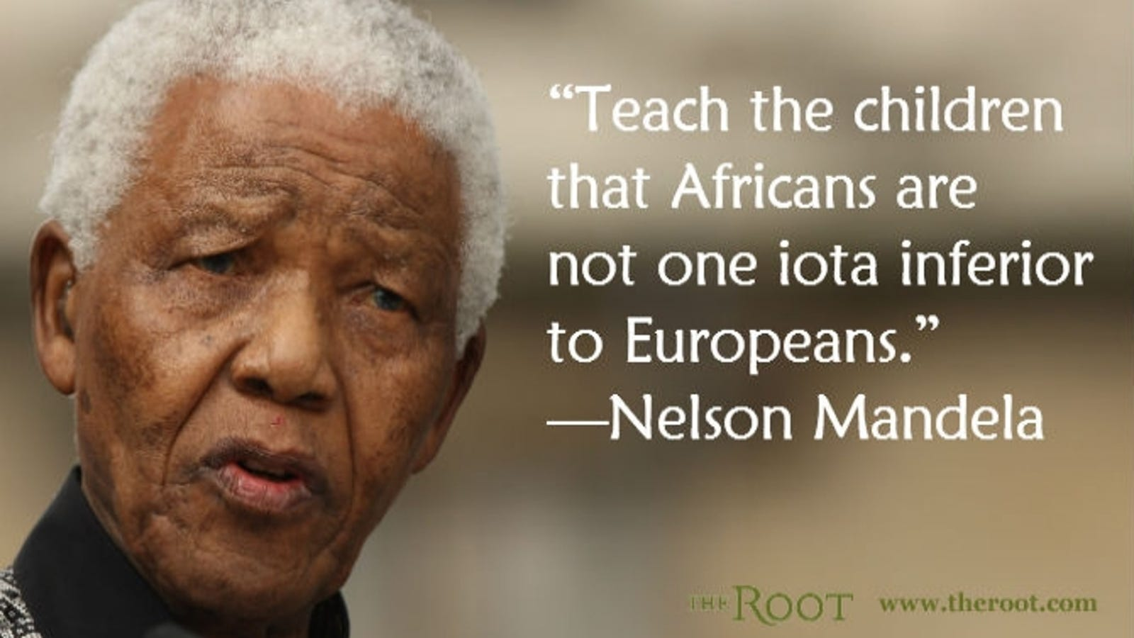 Quote Of The Day Nelson Mandela On African Children