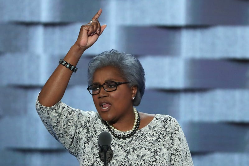 Donna Brazile, the interim chair of the Democratic National Committee, speaking at the Democratic National Convention in Philadelphia on July 26, 2016 Alex Wong/Getty Images