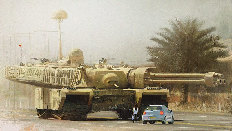 Illustration for article titled Who Doesn't Love GIANT TANKS