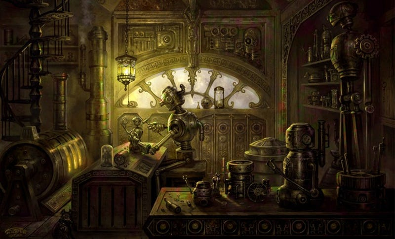Illustration for article titled Concept Art Writing Prompt: The Robotic Tinkerer