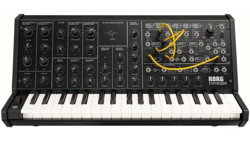 Illustration for article titled Korg MS-20 Mini: A 1970's Patchable Synthesizer Shrunken Down and Resurrected