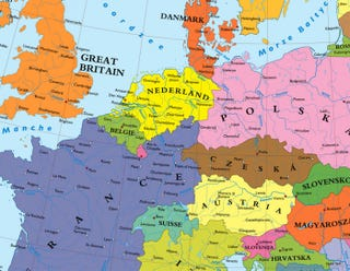 they left us with maps that depict an alternate europe where germany ceded all land to its victorious