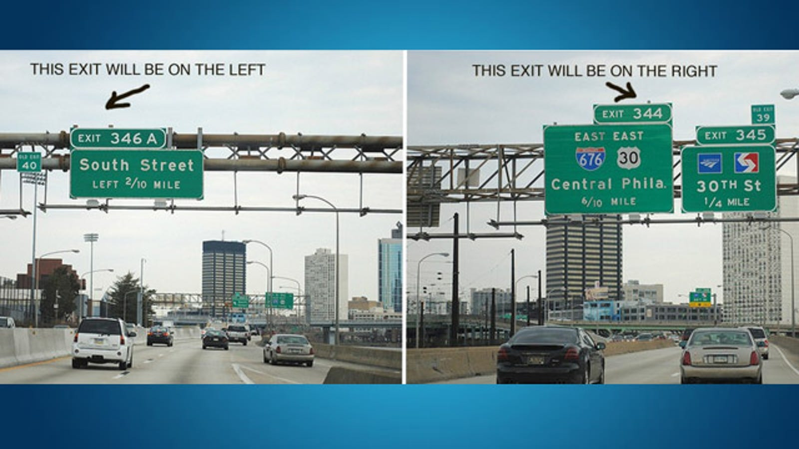 Quickly Tell Whether The Highway Exit Will Be On The Left