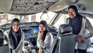 Illustration for article titled First All Woman Royal Brunei Airlines Crew Flies to Saudi Arabia