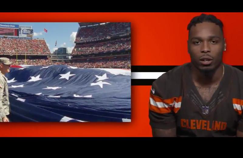 "Cleveland Browns' ""unity"" video screenshot"