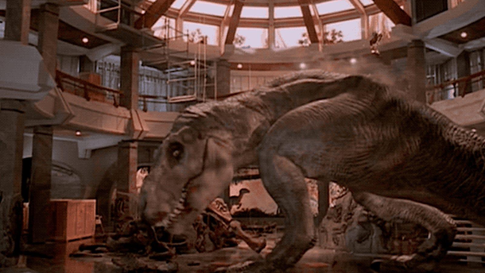 La escena final de Jurassic Park era completamente diferente en el storyboard original