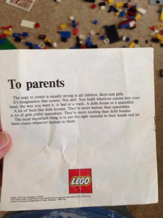 Illustration for article titled That Lego message from the '70s confirmed real!