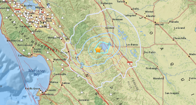 An Earthquake Swarm Has Taken Over Central California - Map of central california