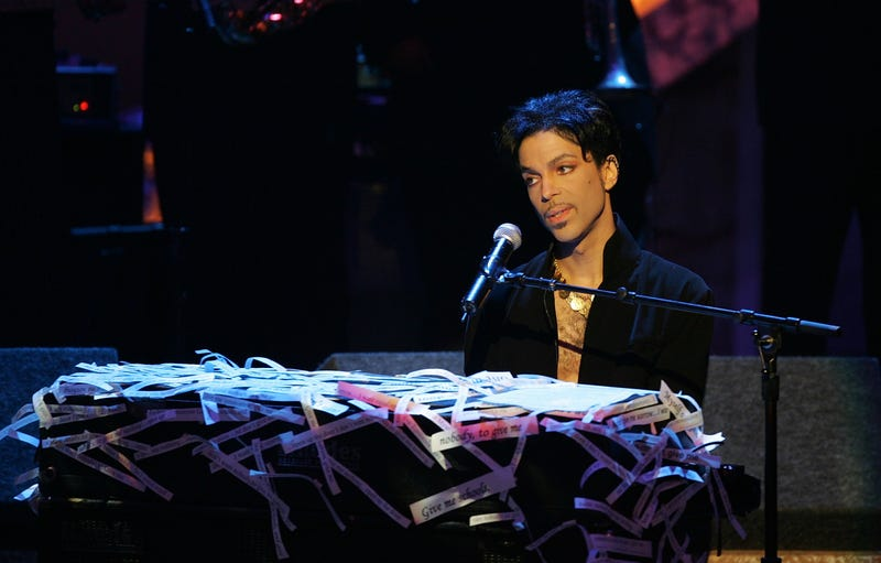 Musician Prince performs at the 36th NAACP Image Awards at the Dorothy Chandler Pavilion on March 19, 2005, in Los Angeles.