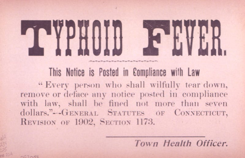 Illustration for article titled Typhoid Fever in San Francisco