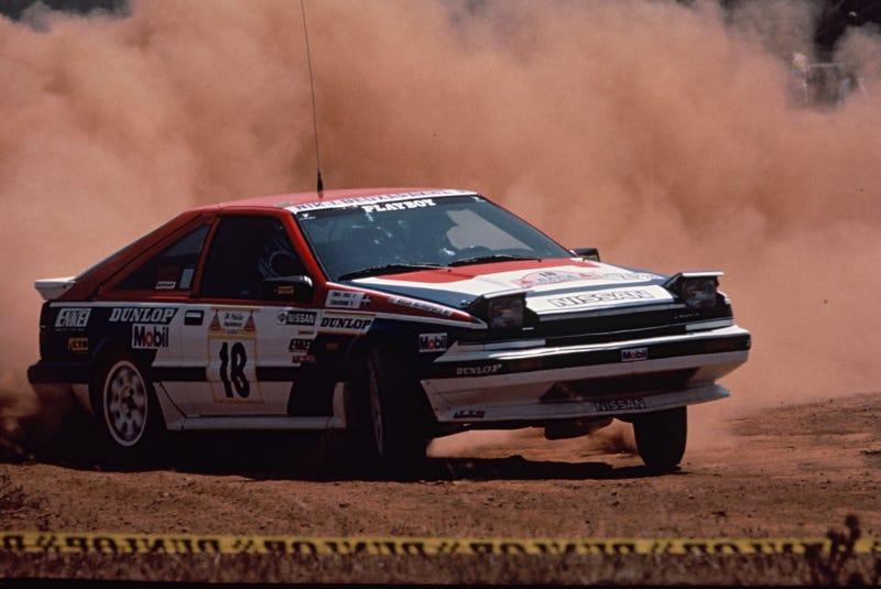 A Nissan S12 Silvia at the 1987 Safari Rally. Photo Credit: NISMO