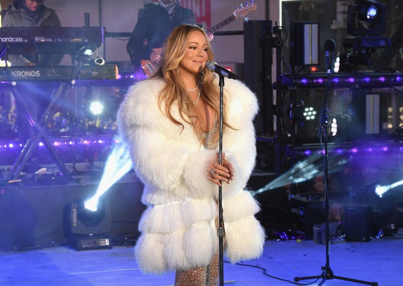 Mariah Carey performs for Dick Clark's New Year's Rockin' Eve With Ryan Seacrest 2018 on Dec. 31, 2017, in New York City. (Nicholas Hunt/Getty Images for Dick Clark Productions)
