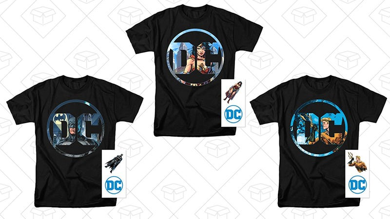 DC Comics Logo Justice League Characters T Shirts & Stickers, $15-$16