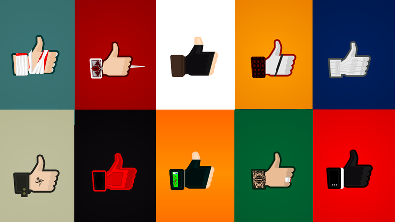 Illustration for article titled Hey, Facebook. Your 'Like' Button Is Ugly. Here Are Better Options.