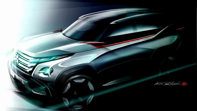 Illustration for article titled Mitsubishi Concept Sketch Might Preview The Next Montero, Maybe