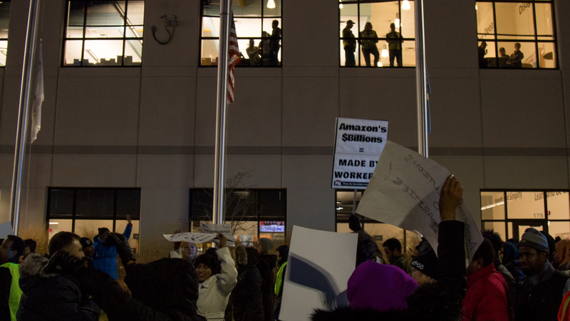 Protesters outside MSP1 in December