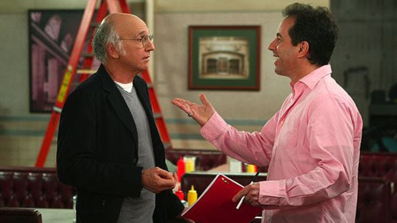 Illustration for article titled Jerry Seinfeld and Larry David are working on something and/or nothing again