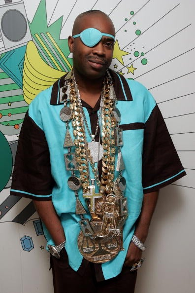 Rapper Slick Rick is known for his bling.