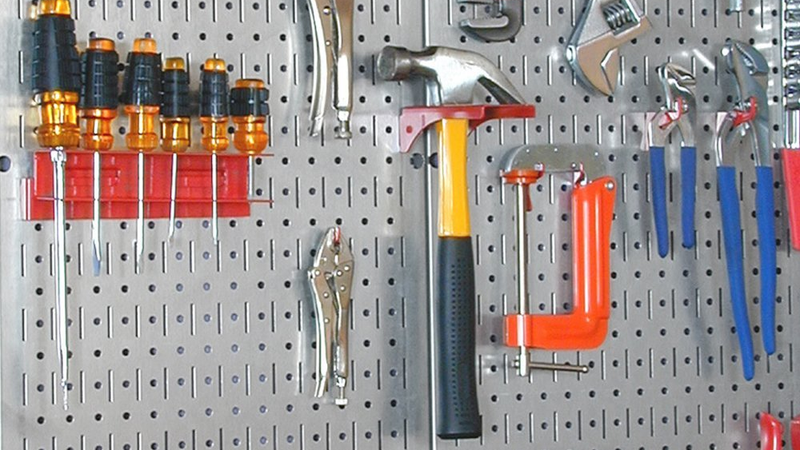 Wall Control Galvanized Steel Pegboard Pack | $26 | Amazon