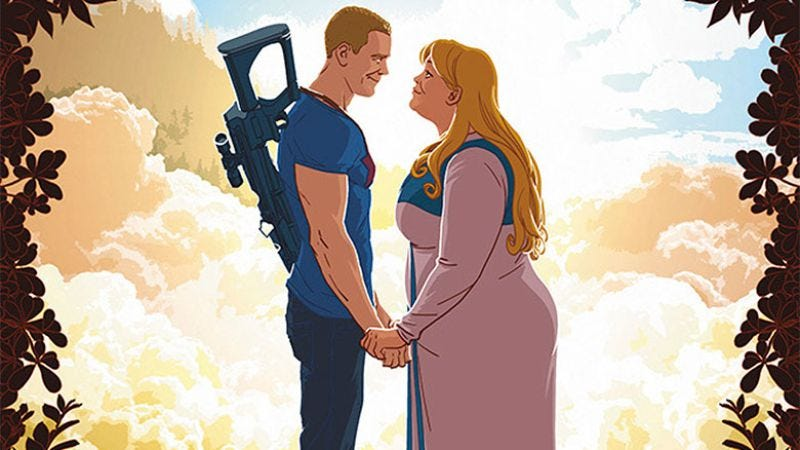 Illustration for article titled Valiant exclusive: Faith flies to A&A #5 for her first date with Archer