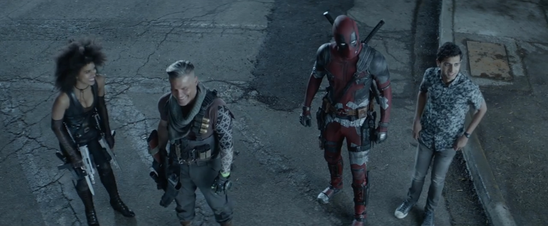 Team Deadpool is undone by a passing train in the Deadpool 2 gag reel.