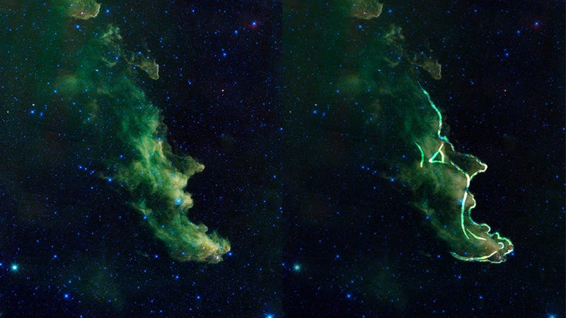 Illustration for article titled La nebulosa con cara de bruja que grita en el espacio