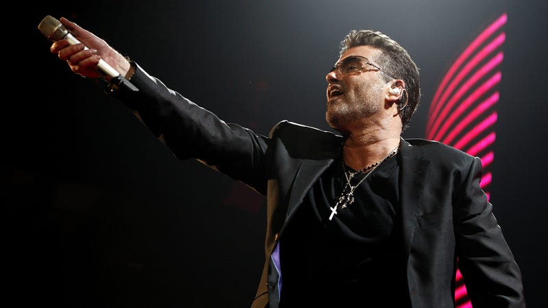 """Instead of a screencap, here's George Michael singing """"Freedom"""" (Photo by Kevin Winter/Getty Images)"""