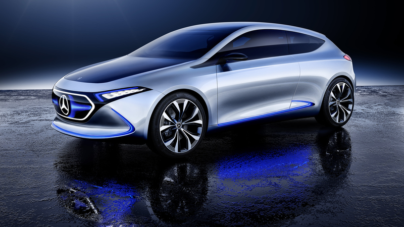 Illustration for article titled The Mercedes-Benz Concept EQA Shows How Mercedes Can Phone In An Electric Hatch With A TV For A Grille