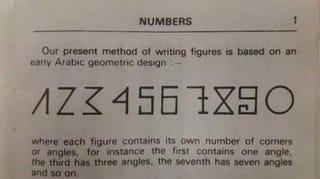 No, esta imagen viral no explica por qué los números tienen esa forma