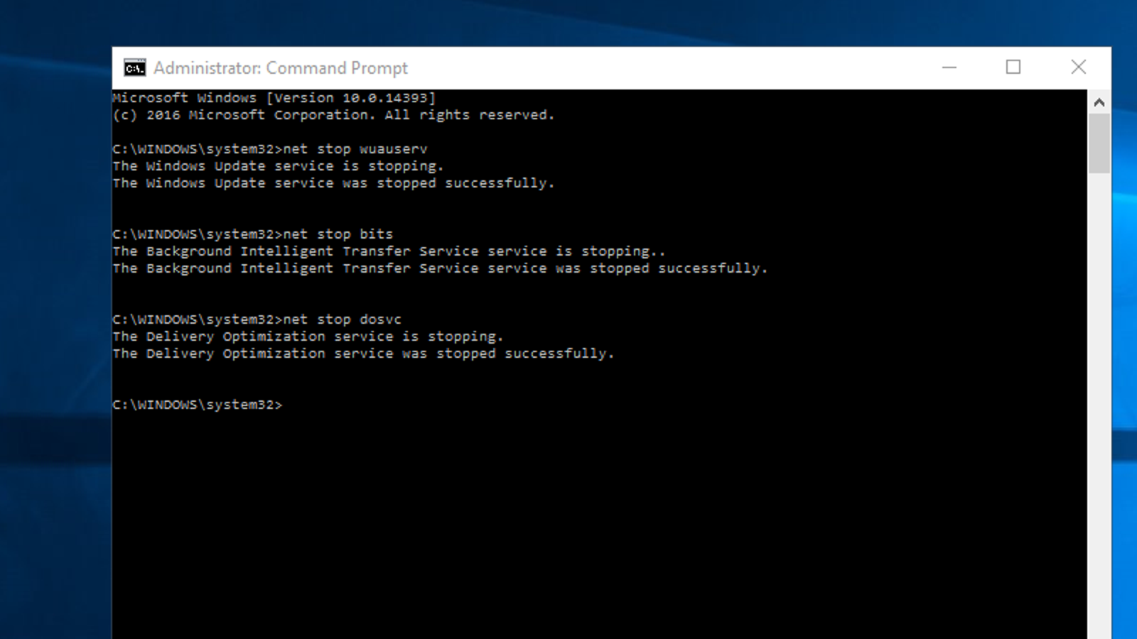Deleting Windows 7 updates through the command line
