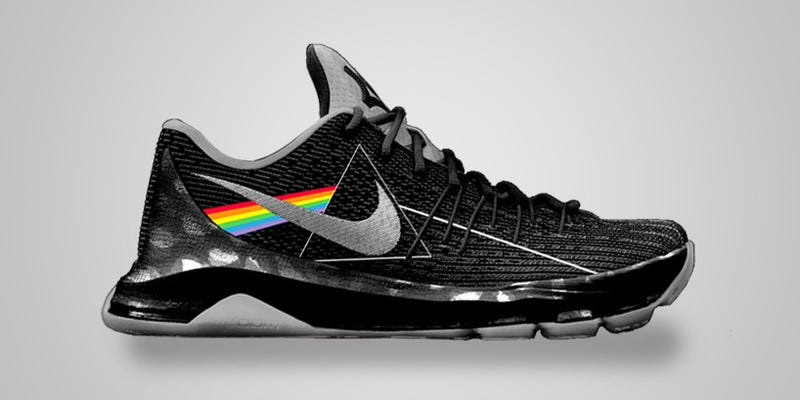 Illustration for article titled This Is How Nike Sneakers Inspired By Classic Album Covers Could Look