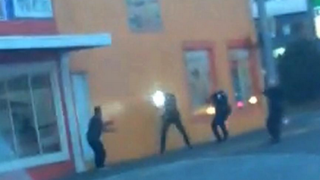 Antonio Zambrano-Montes and Washington state police officers during their fatal encounter in Pasco, Wash., Feb. 10, 2015.YouTube screenshot