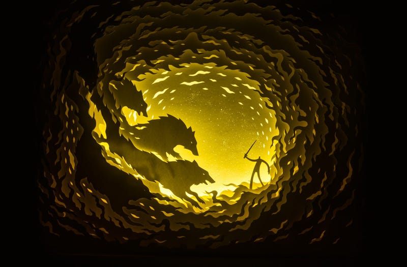 Illustration for article titled Myths Illuminated In Shadow Boxes Make Believers Of Us All