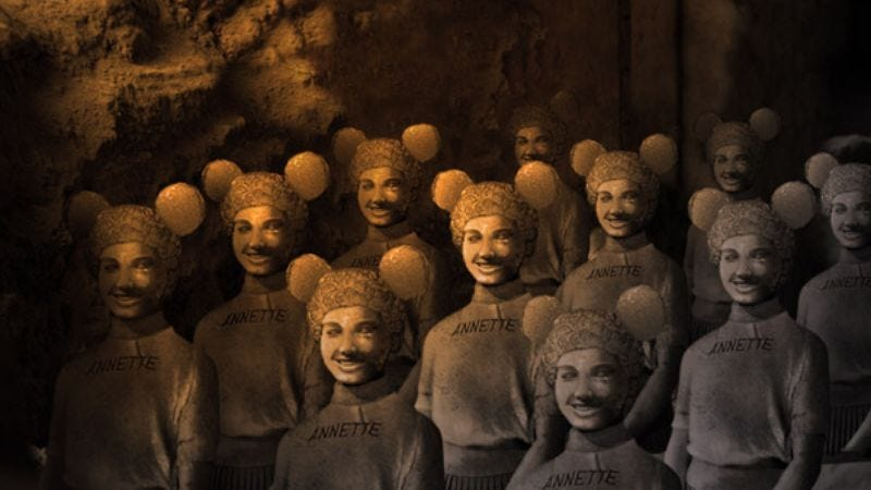 More than 8 square miles of perky, rosy-cheeked soldiers were found buried deep beneath the theme park.