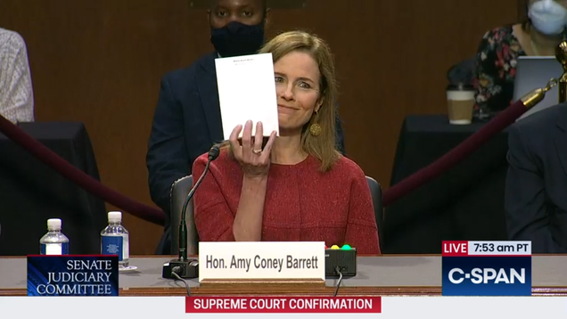 Photoshop Contest: What s Amy Coney Barrett Doodling?