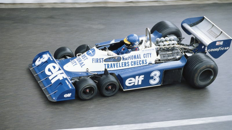 Illustration for article titled Why Did Tyrrell Put Six Wheels On Their Formula One Car?