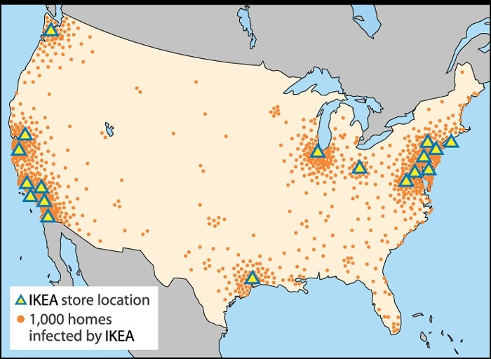 IKEA Claims Another 10,000 Lifestyles on ups locations map, dillard's locations map, tesco locations map, officemax locations map, dollar tree locations map, ibm locations map, nike locations map, big lots locations map, kohl's locations map, babies r us locations map, jiffy lube locations map, winco foods locations map, microsoft locations map, scheels locations map, aeropostale locations map, belk locations map, bass pro shops locations map, landry's locations map, vermont country store locations map, google locations map,