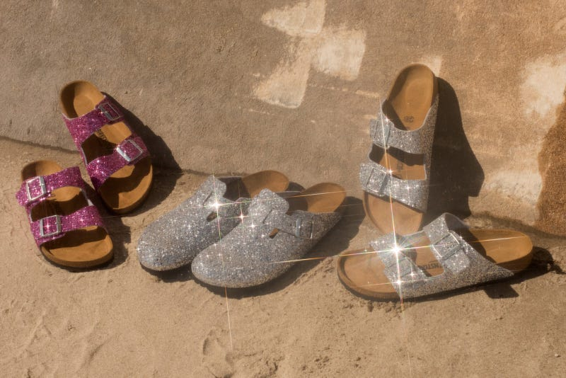 Illustration for article titled First They Were Furry, Now Birkenstock Goes Glittery