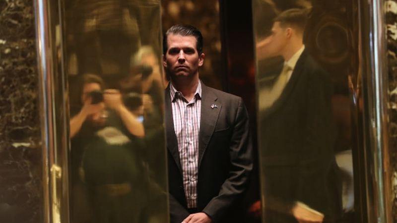 This elevator is his new office (Photo: John Moore/Getty Images)