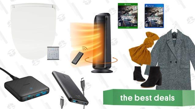 Sunday s Best Deals: Bio Bidet Seats, ASOS Fall Apparel, Anker Charging Accessories, TaoTronics Oscillating Heater, and More