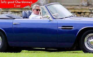 Illustration for article titled Prince Charles' Modded Aston Martin Burns 4.5 Bottles of Wine Per Mile