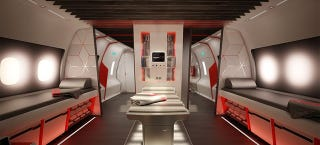Illustration for article titled Nike's Concept Jet for Pro Athletes Is a Luxury Lounge at 40,000 Feet