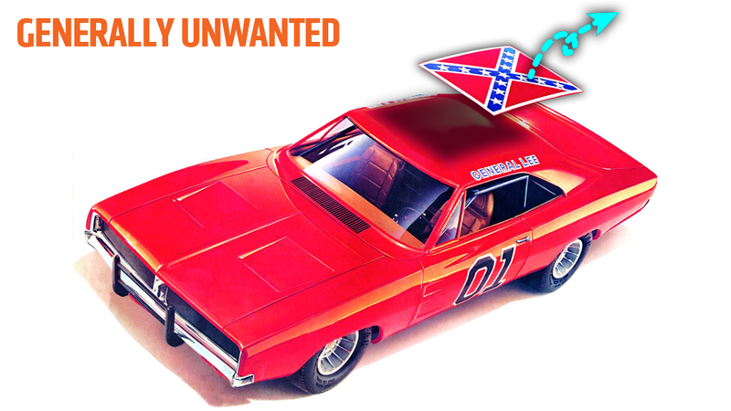 Illustration for article titled Models Of The General Lee From The Dukes Of Hazzard Will Lose The Confederate Flag
