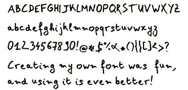 Illustration for article titled YourFonts Turns Your Handwriting Into a Personlized Font